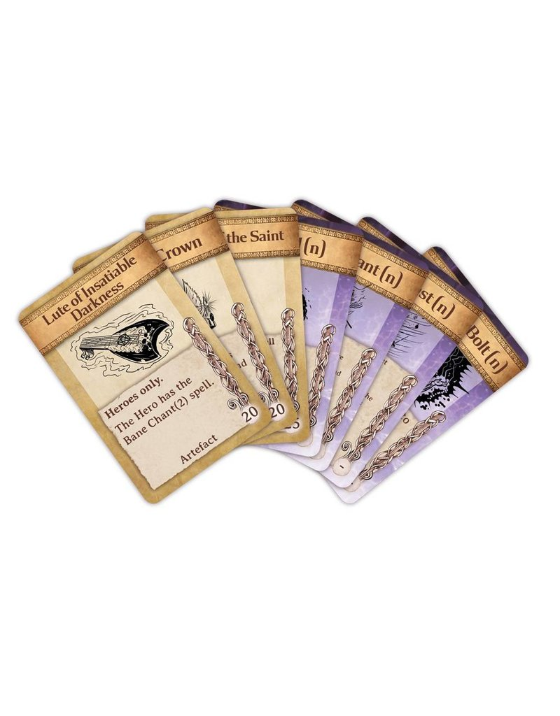 Mantic Games Kings of War Artefact & Spell Cards