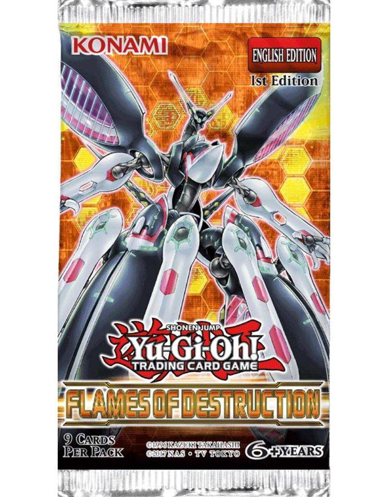 Konami Yu-Gi-Oh! Flames of Destruction 1st Edition Booster