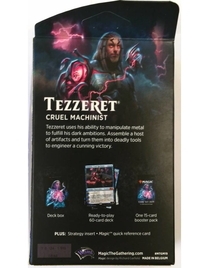 Wizards of the Coast Magic The Gathering: Core 2019 Core 2019 - Tezzeret, Cruel Machinist Planeswalker Deck