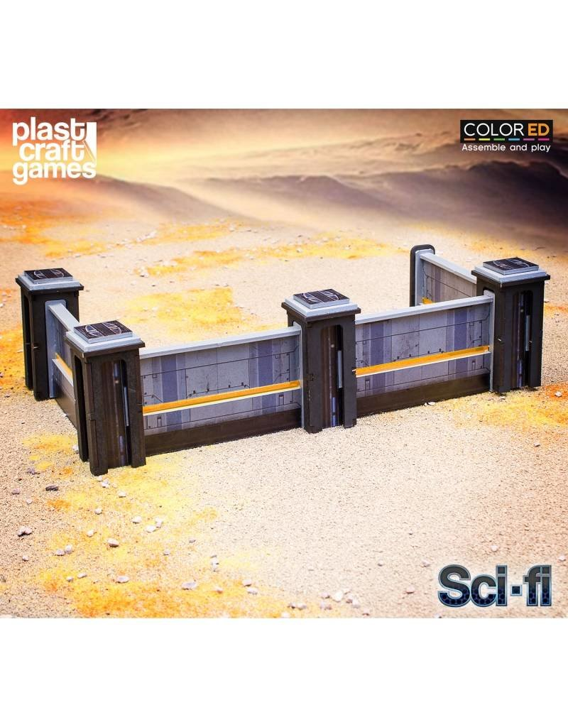 Plastcraft 28-32mm Scale Sci-fi Scenery - Continuum Port Walls