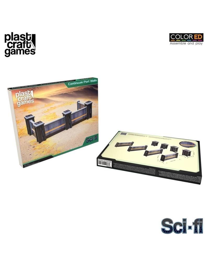 Plastcraft 28-32mm Scale Sci-fi Scenery - Continuum Port Walls