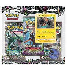Pokemon Celestial Storm Triple Pack - Tapu Koko
