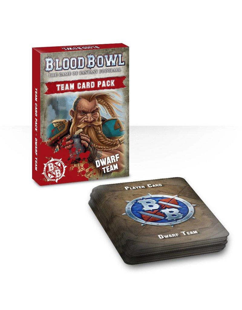 Games Workshop Blood Bowl: Dwarf Team Cards (EN)