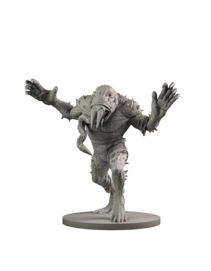 Mantic Games Hellboy Miniatures Game: Resin Giant Frog Monster & Rasputin