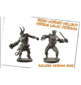 Mantic Games Resin Horned Hellboy Versus Ualac Diorama
