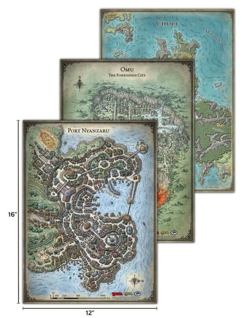 Gale Force 9 D&D Tomb Of Annihilation Map Set