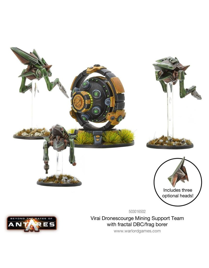 Warlord Games Virai Dronescourge Mining Support Team with Fractal DBC