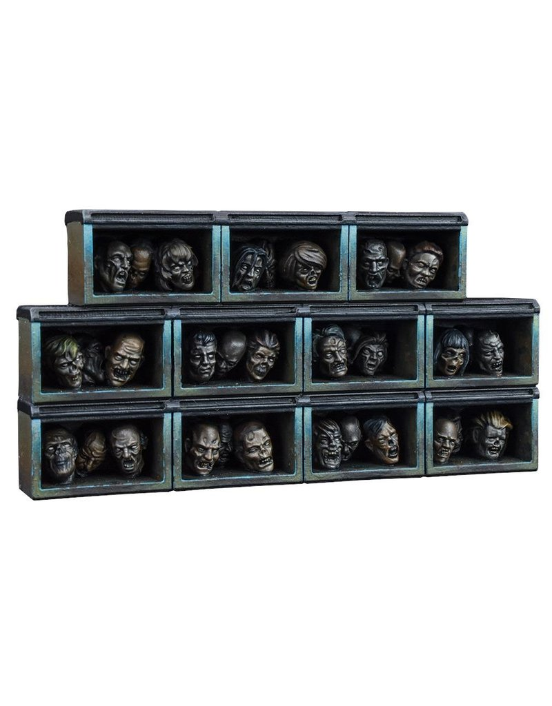 Mantic Games The Walking Dead: The Governor's Trophy Room Collector's Resin Set