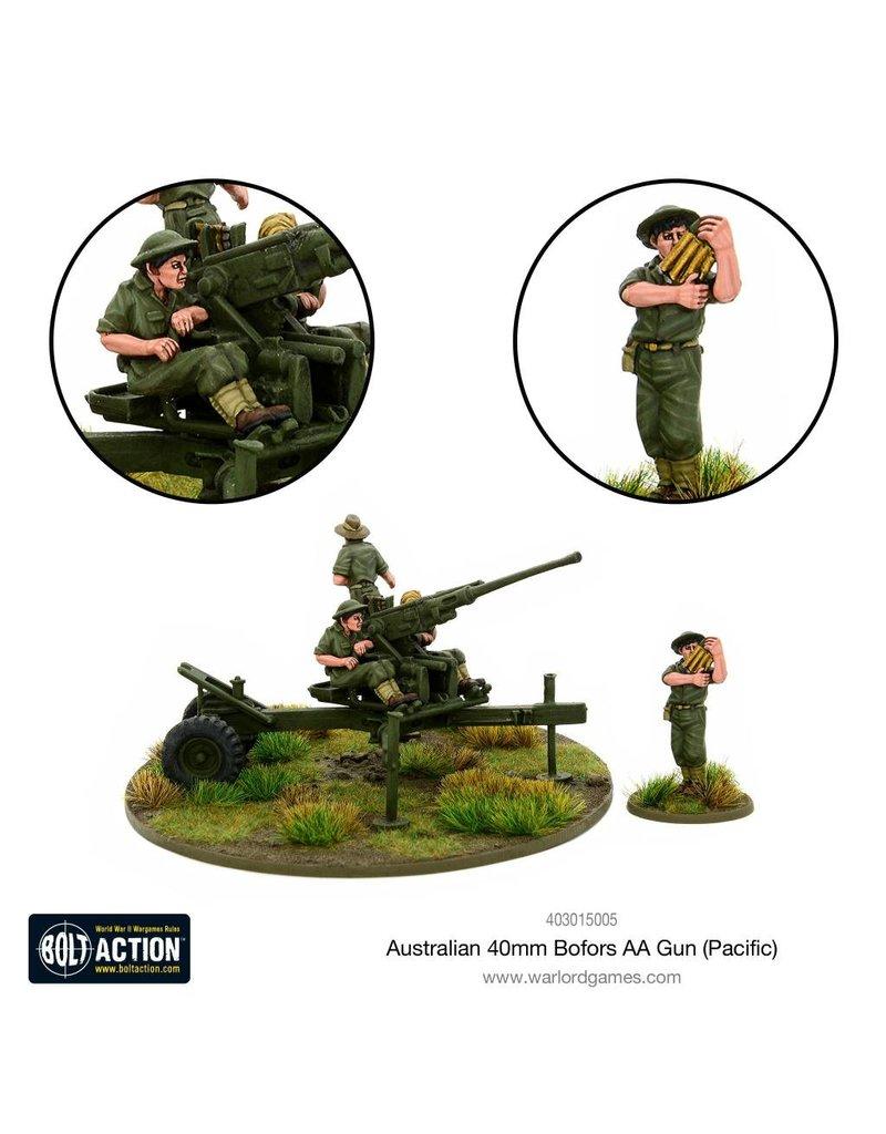 Warlord Games Bolt Action: Australian 40mm Bofors AA Gun (Pacific) Blister Pack