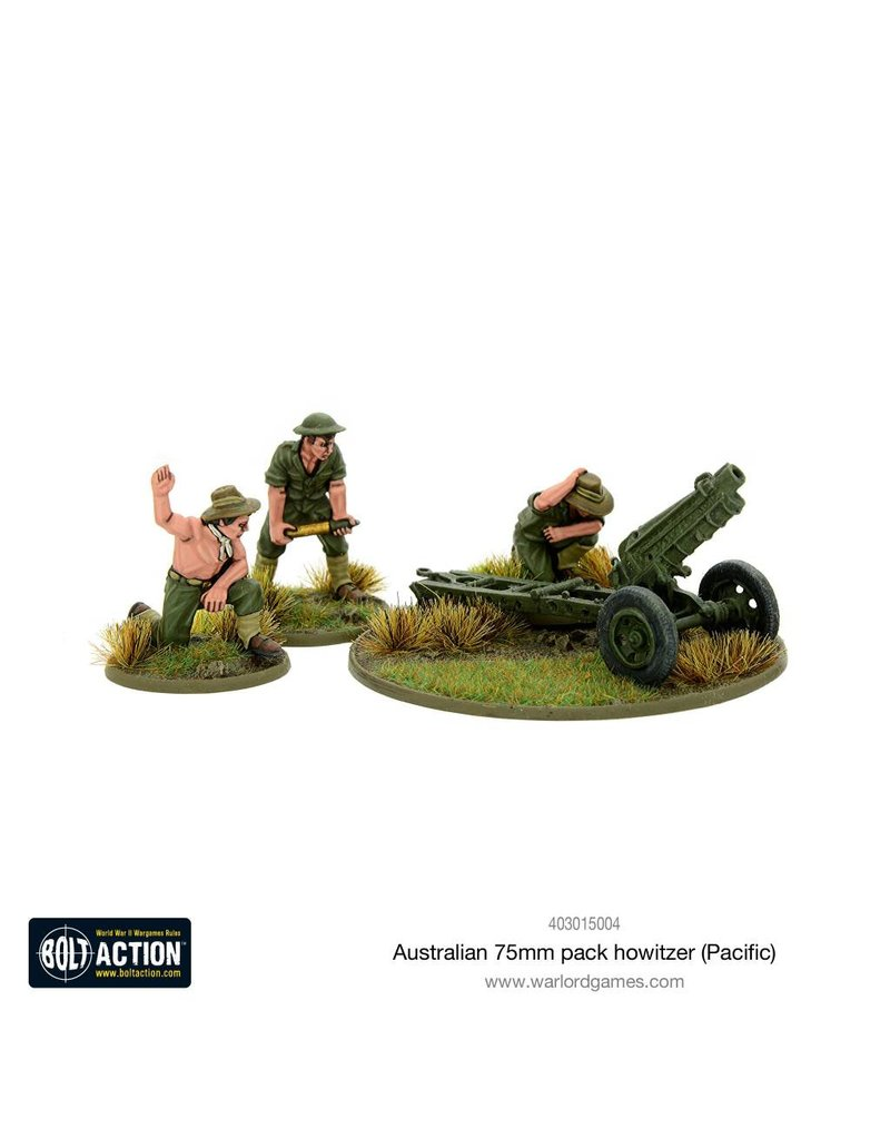 Warlord Games Bolt Action: Australian 75mm Pack Howitzer (Pacific) Blister Pack