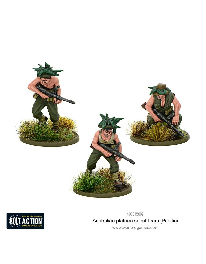 Warlord Games Bolt Action: Australian Platoon Scout Team (Pacific) Blister Pack