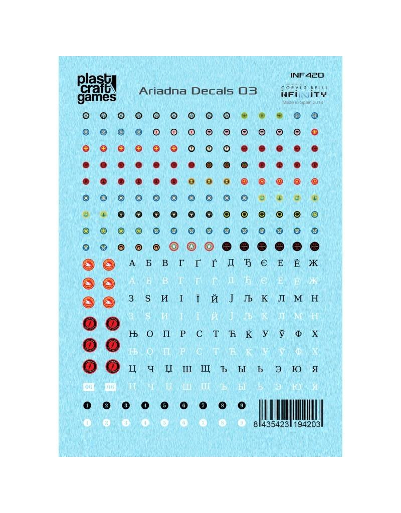 Plastcraft Infinity The Game Decals - Ariadna 03