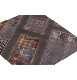 Game Mat 4'x4' Double Sided G-Mat: Quarantine and Wastelands