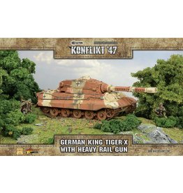 Warlord Games King Tiger-X with Heavy Rail Gun