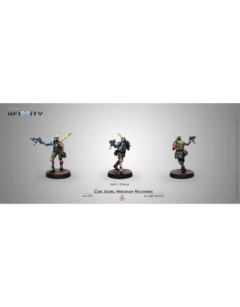 Corvus Belli Mercenary Cube Jagers, Mercenary Recoverers (SMG)