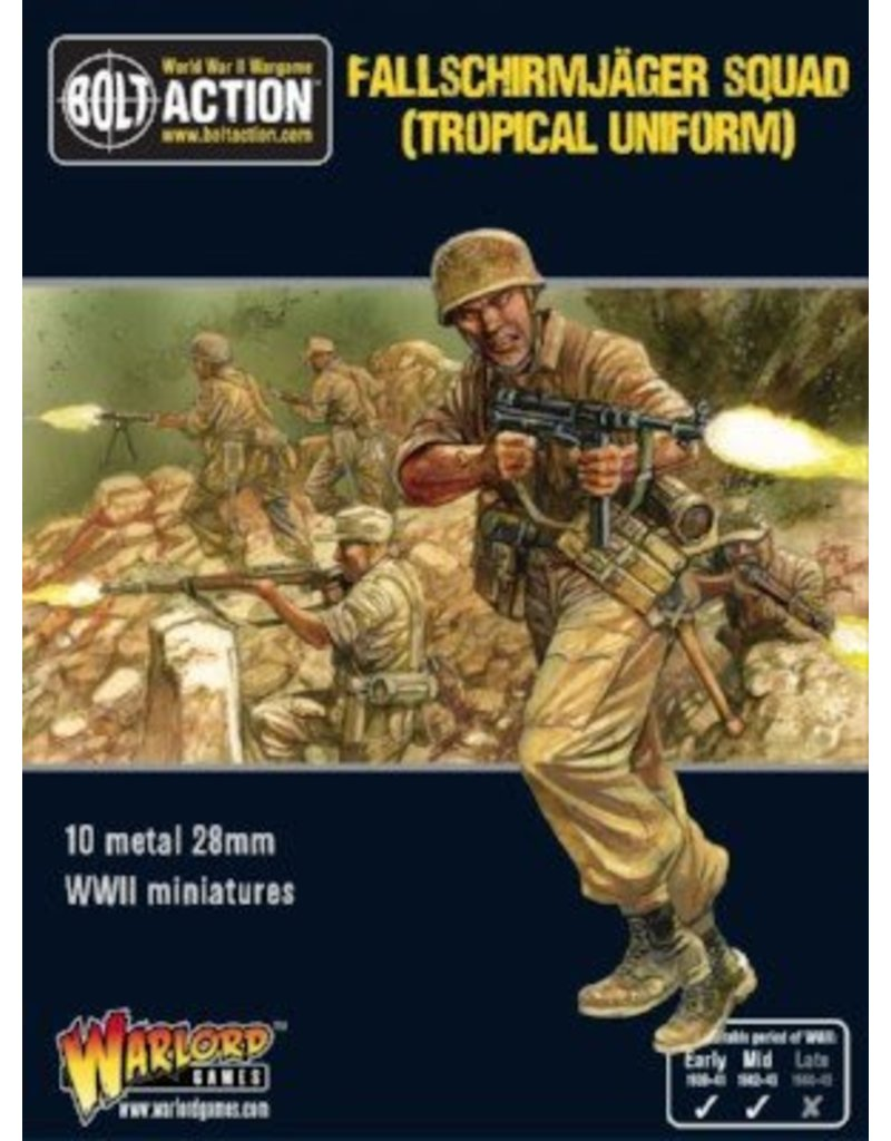 Warlord Games German Fallschirmjager Squad (Tropical Uniform)