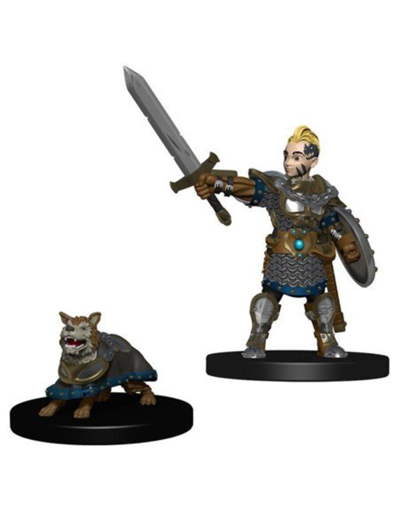 Wizkids Wizkids Wardlings Miniatures: Boy Fighter and Battle Dog (Wave 1)