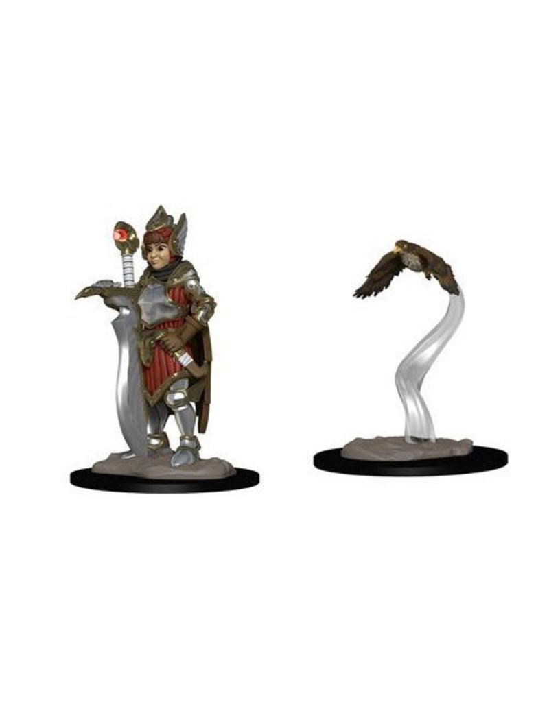 Wizkids Wizkids Wardlings Miniatures: Girl Fighter and Hunting Falcon (Wave 2)