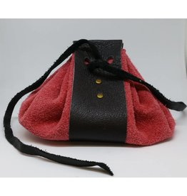 Goblin Gaming Leather Dice Bag - Pink/Brown