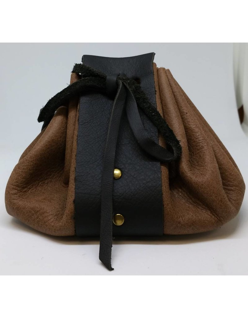 Goblin Gaming Hand-crafted Leather Dice Bag - Brown/Black
