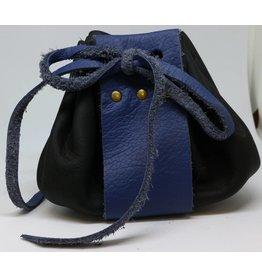 Goblin Gaming Leather Dice Bag - Black/Blue