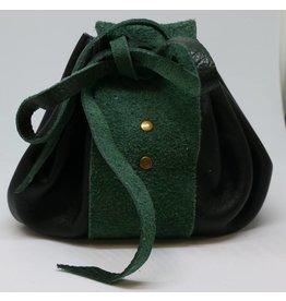 Goblin Gaming Leather Dice Bag - Black/Green