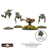 Warlord Games Virai Dronescourge Deep Mining Team with Mag Heavy Support