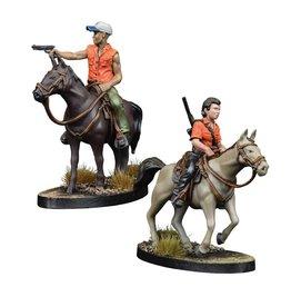 Mantic Games Maggie and Glenn on Horseback