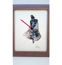 Hana Abstracts Darth Vader Watercolour A4