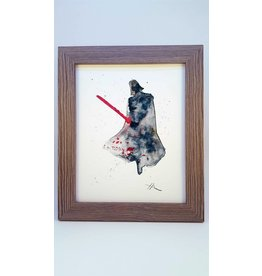 Hana Abstracts Darth Vader Watercolour A5