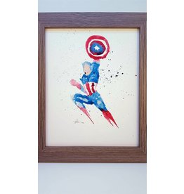 Hana Abstracts Captain America Watercolour A4