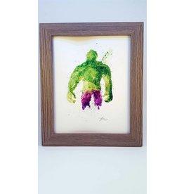 Hana Abstracts The Hulk Watercolour A5
