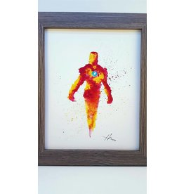 Hana Abstracts Iron Man Watercolour A4