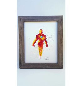 Hana Abstracts Iron Man Watercolour A5