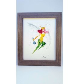 Hana Abstracts Hawk Girl Watercolour A5