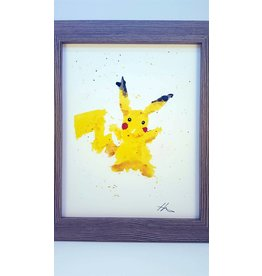 Hana Abstracts Pikachu Watercolour A4