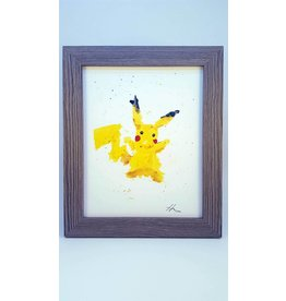 Hana Abstracts Pikachu Watercolour A5