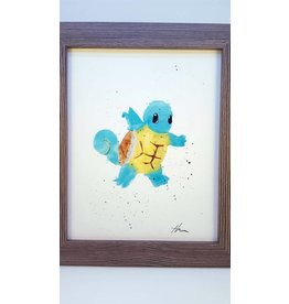Hana Abstracts Squirtle Watercolour A4