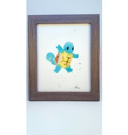 Hana Abstracts Squirtle Watercolour A5