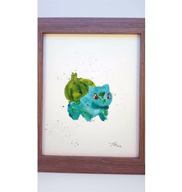 Hana Abstracts Bulbasaur Watercolour A4