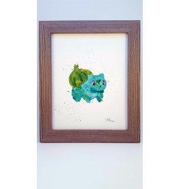 Hana Abstracts Bulbasaur Watercolour A5