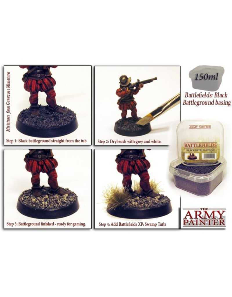 The Army Painter Battlefields: Black Battleground Basing Material