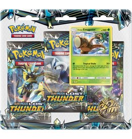 Pokemon Sun & Moon 8 Lost Thunder Blister 3-Pack Display