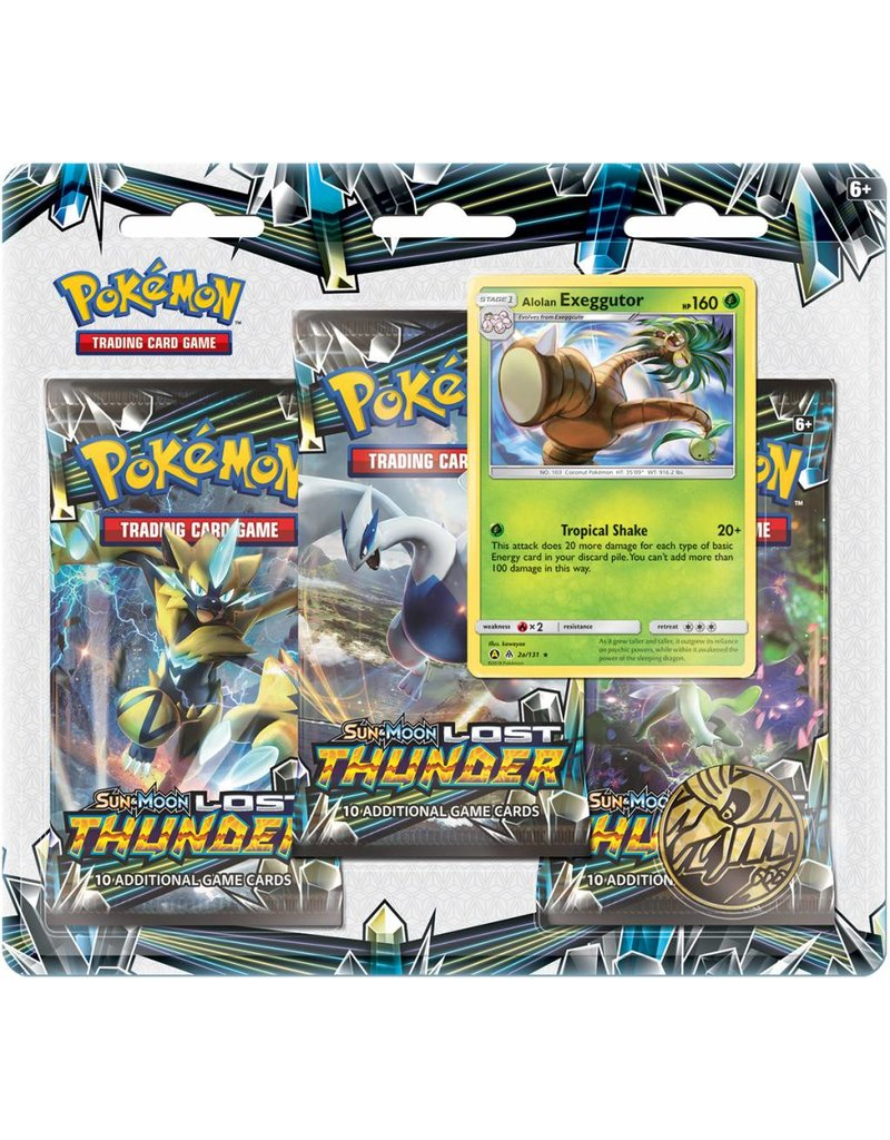 Pokemon TCG: Sun & Moon 8 Lost Thunder Blister 3-Pack Display