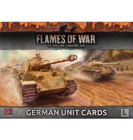 Battlefront Miniatures Late War German Unit Cards