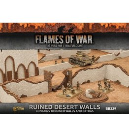 Battlefront Miniatures Ruined Desert Walls