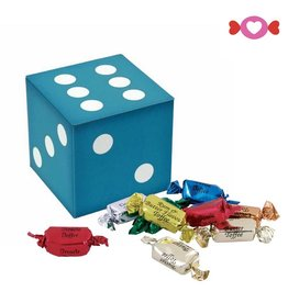 Vintage Original Blue Dice Tin W/ Toffees