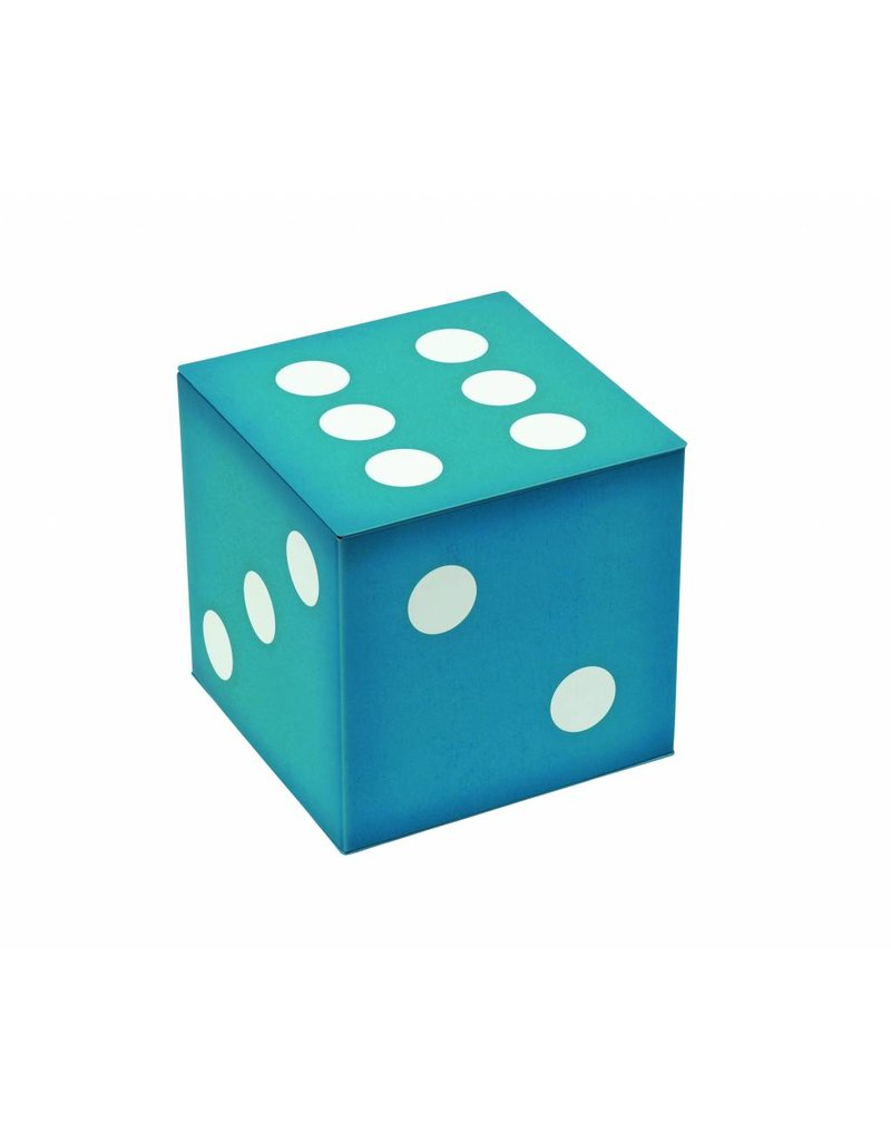 Vintage Original Blue Dice Tin With Toffees