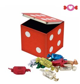Vintage Original Red Dice Tin W/ Toffees