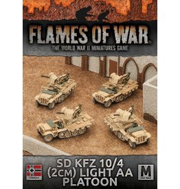 Battlefront Miniatures Sd Kfz 10/4 (2cm) Light AA Platoon